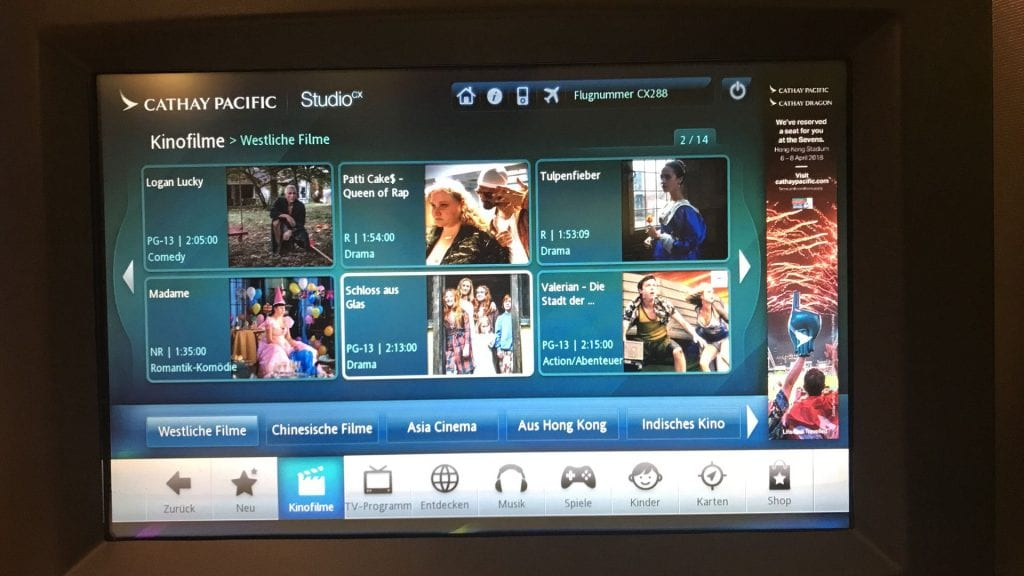 cathay pacific first class boeing 777 entertainment