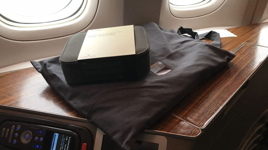 cathay pacific first class boeing 777 pajamas amenity