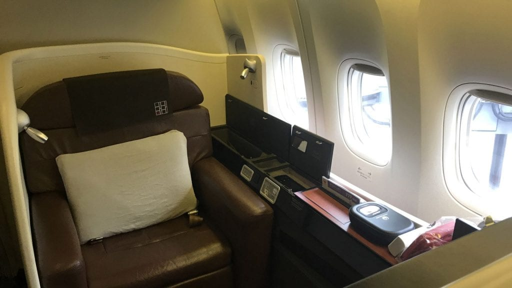 japan airlines first class boeing 777 Sitz 5
