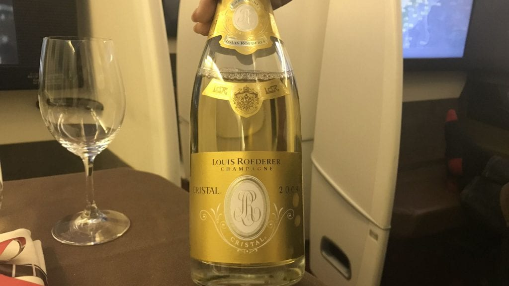 japan airlines first class boeing 777 champagner