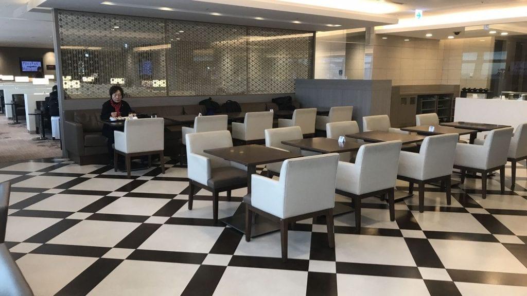 japan airlines first class lounge tokio haneda restaurant
