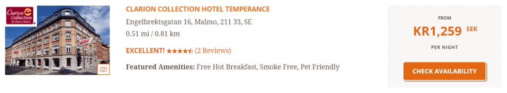 Clarion Hotel Malmö Paid