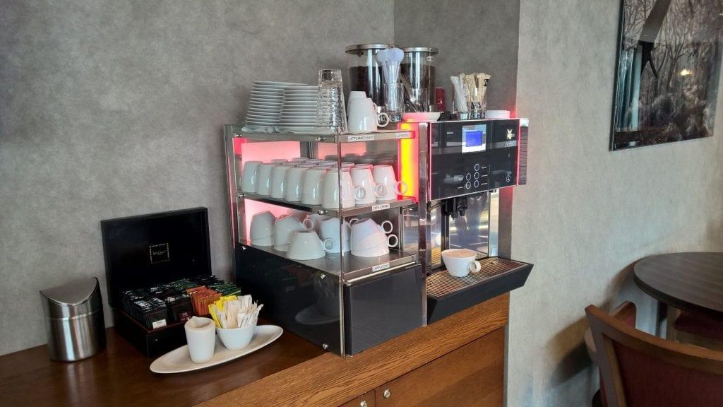 Hilton Den Haag Executive Lounge Kaffeemaschine