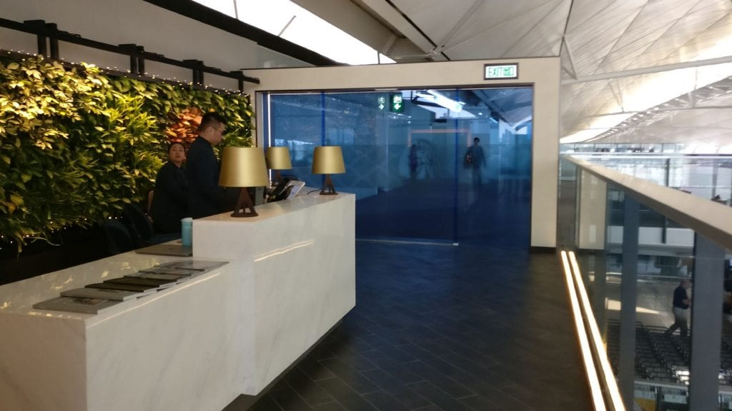 American Express Centurion Lounge Reception