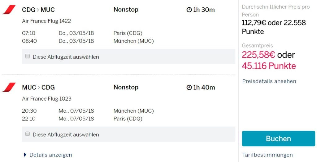 CDG MUC Amex Travel