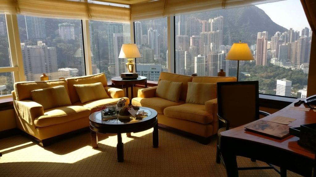 Conrad Hong Executive Peak Suite Living Room