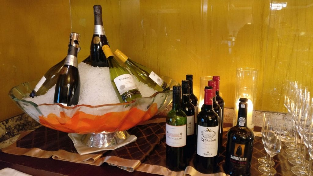 Conrad Macao Executive Lounge Evening Spread
