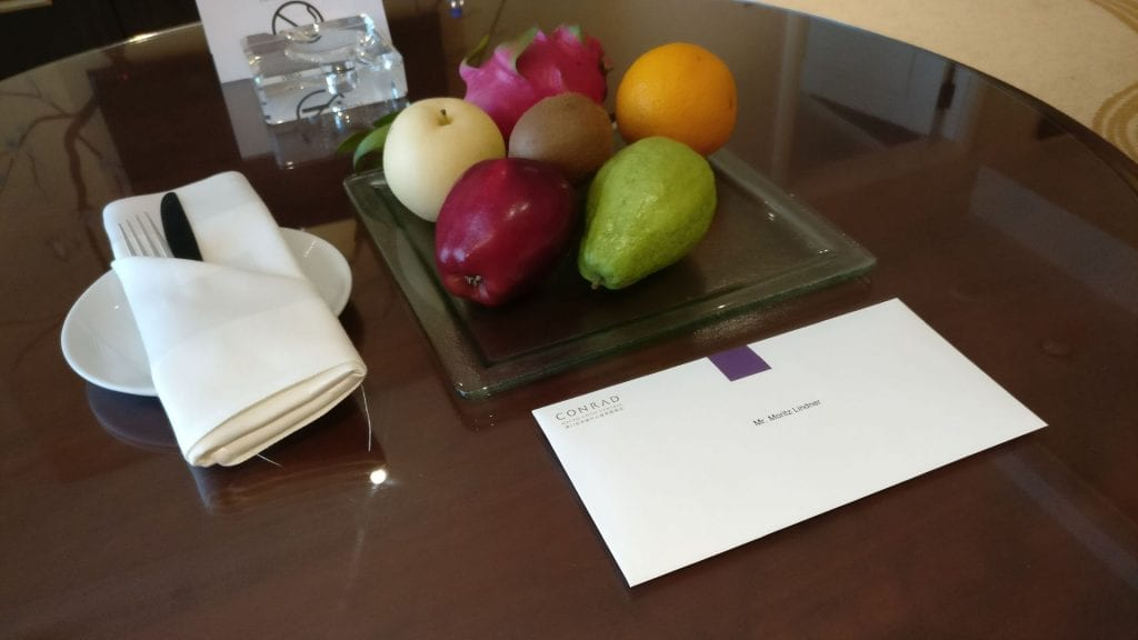 Conrad Macao Welcome Gift