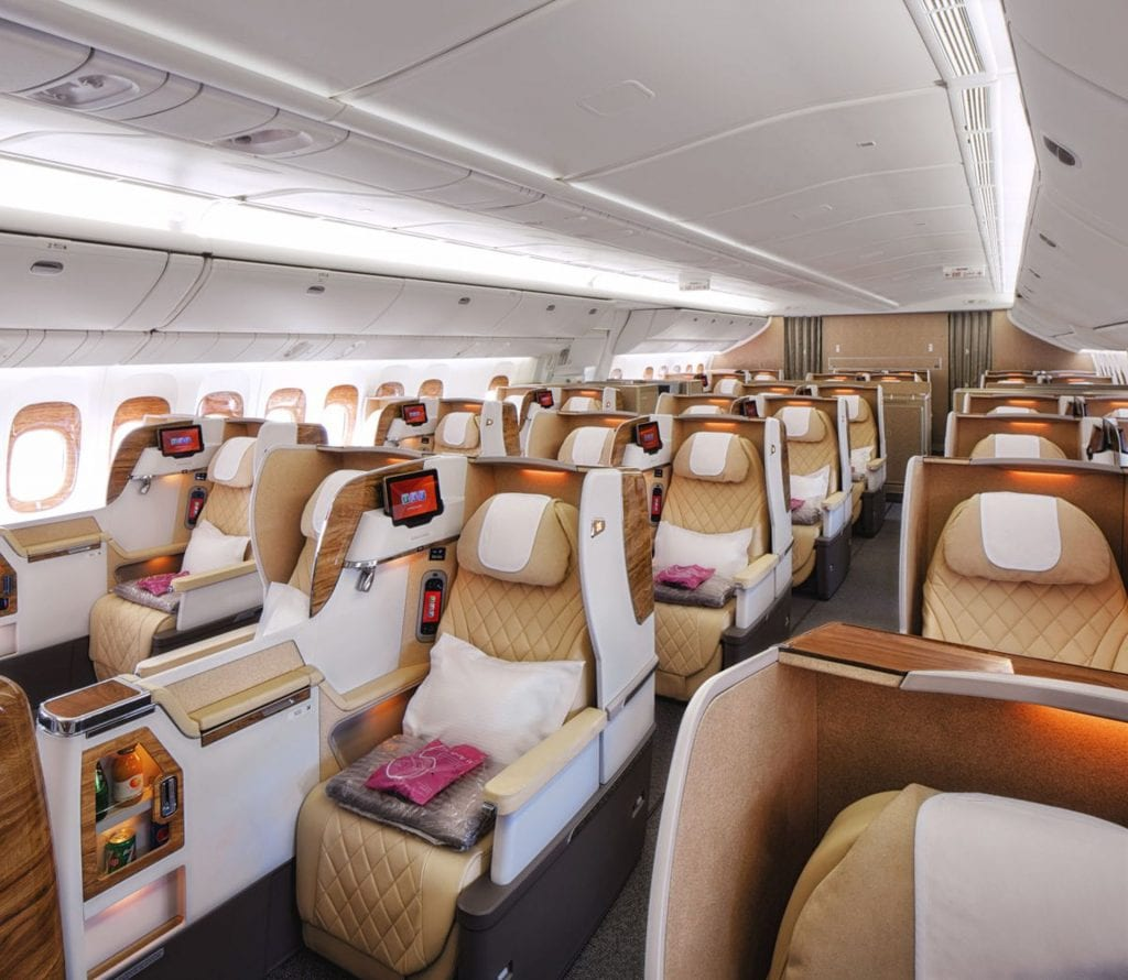 Emirates Business Class Boeing 777 200LR