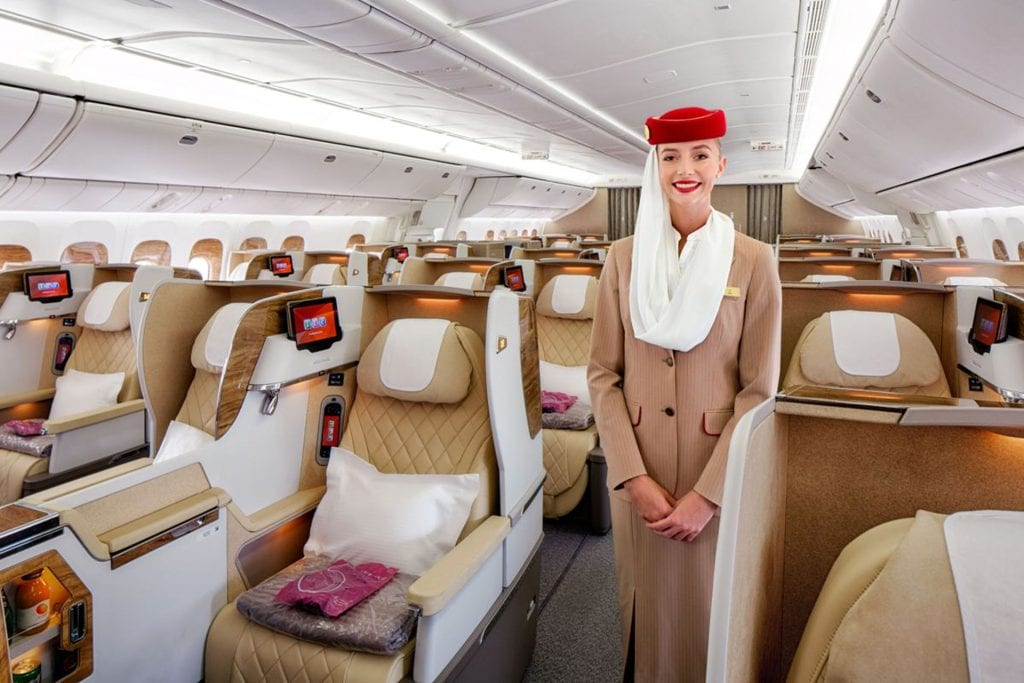 Emirates Business Class Boeing 777 200LR 3
