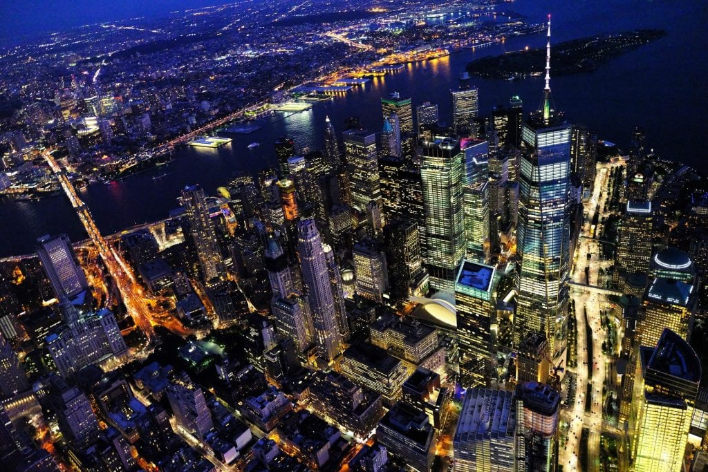New York Nacht Birdview