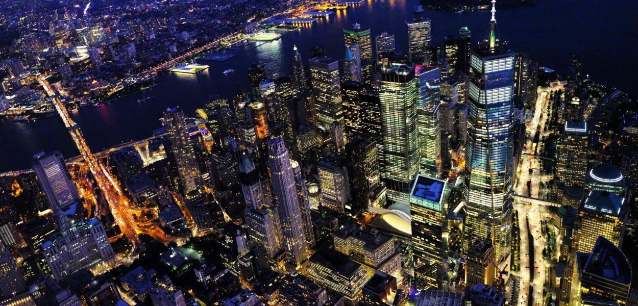 New York Nacht Birdview