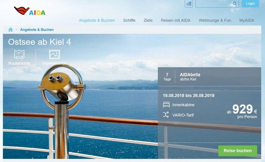 Reisebeispiel 1 AIDAbella Ostsee August 2018 1