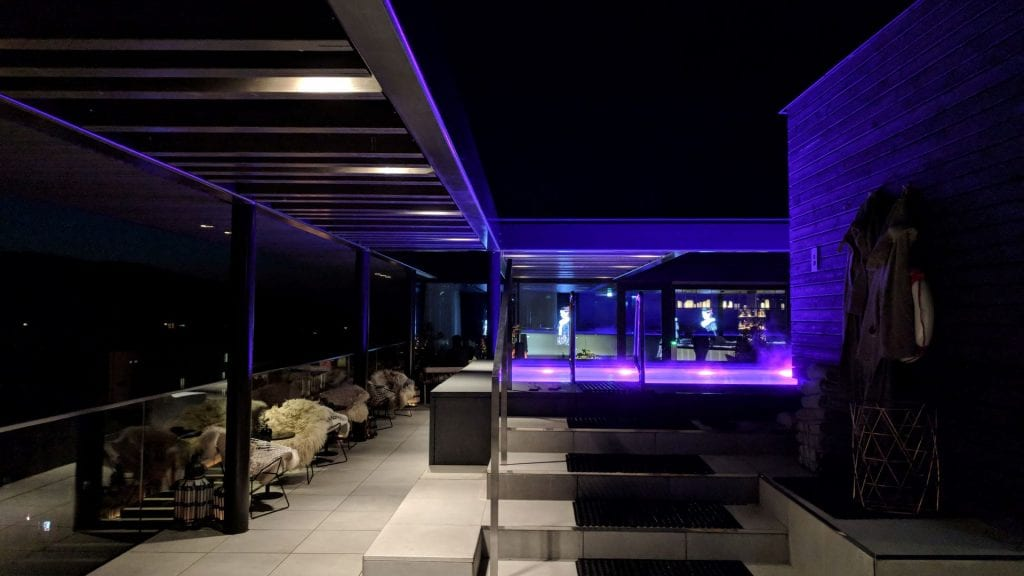 Roomers Baden Baden Rooftop Pool Lighting