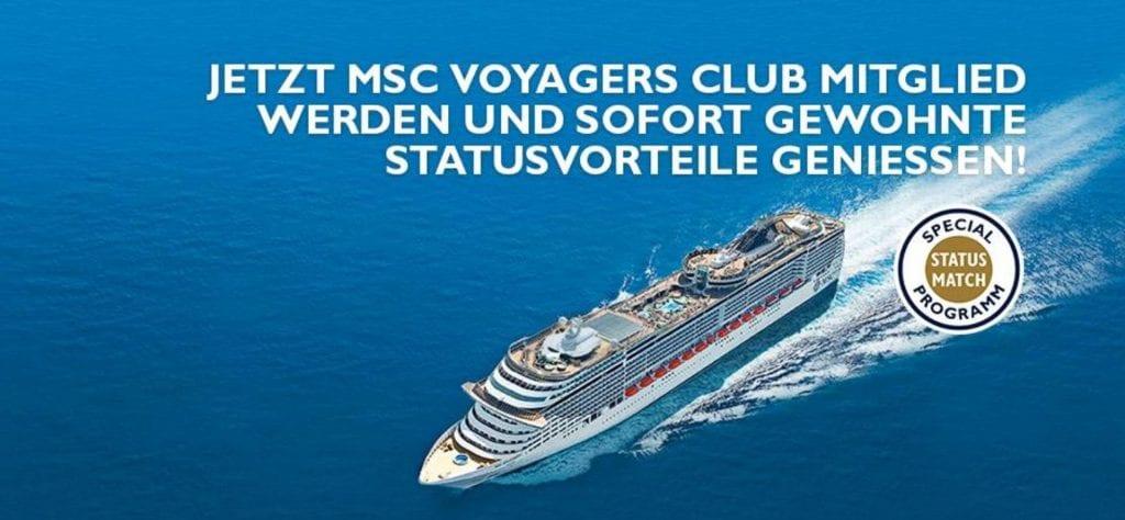 Status Match MSC Voyager Club Header