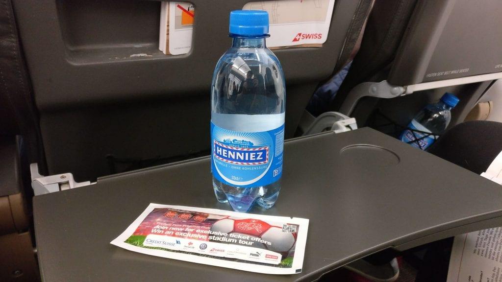 Swiss Business Class Airbus Wasser