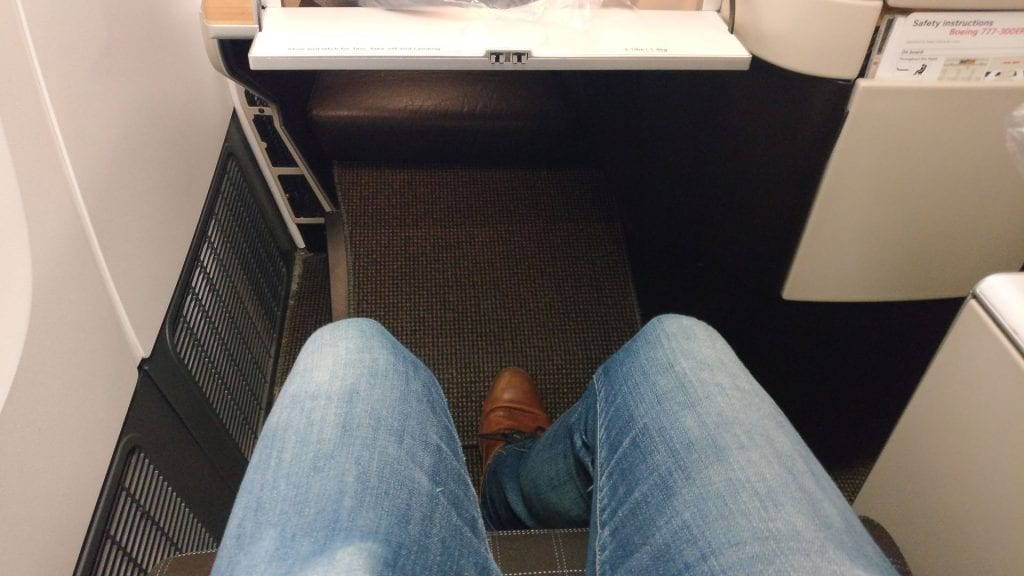 Swiss Business Class Boeing 777 Seat Pitch