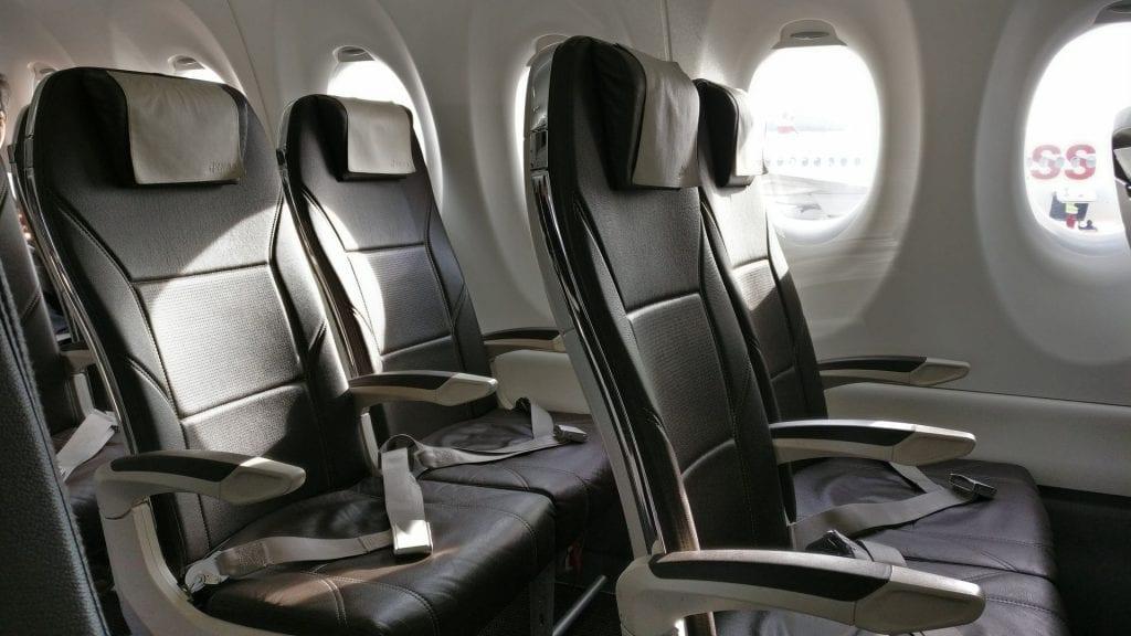 Swiss Business Class CS100 Sitze