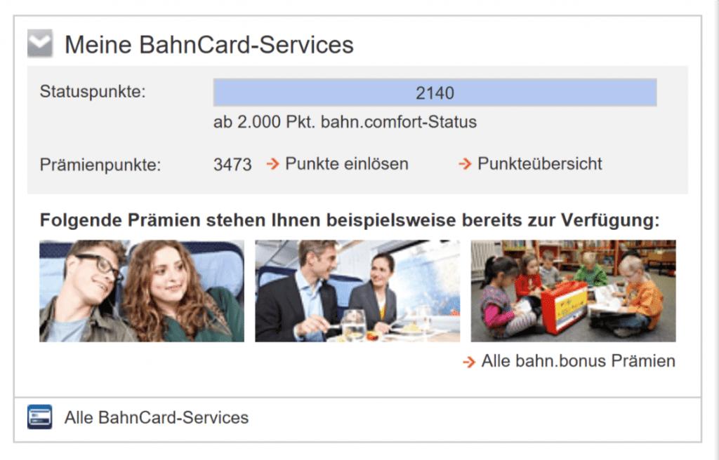 Bahn Comfort Status - alle Vorteile & Voraussetzungen
