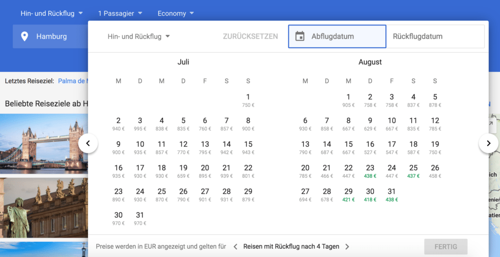google flights neu