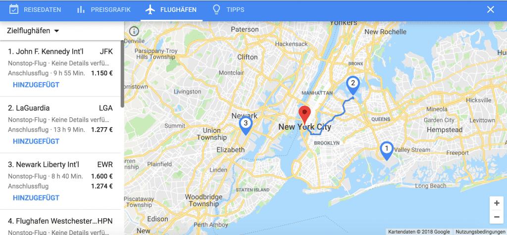 google flüge verschiedene flughäfen