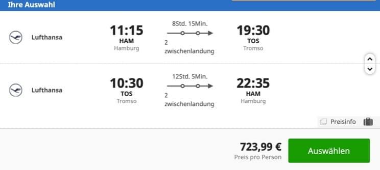 Lufthansa Booking Tromso