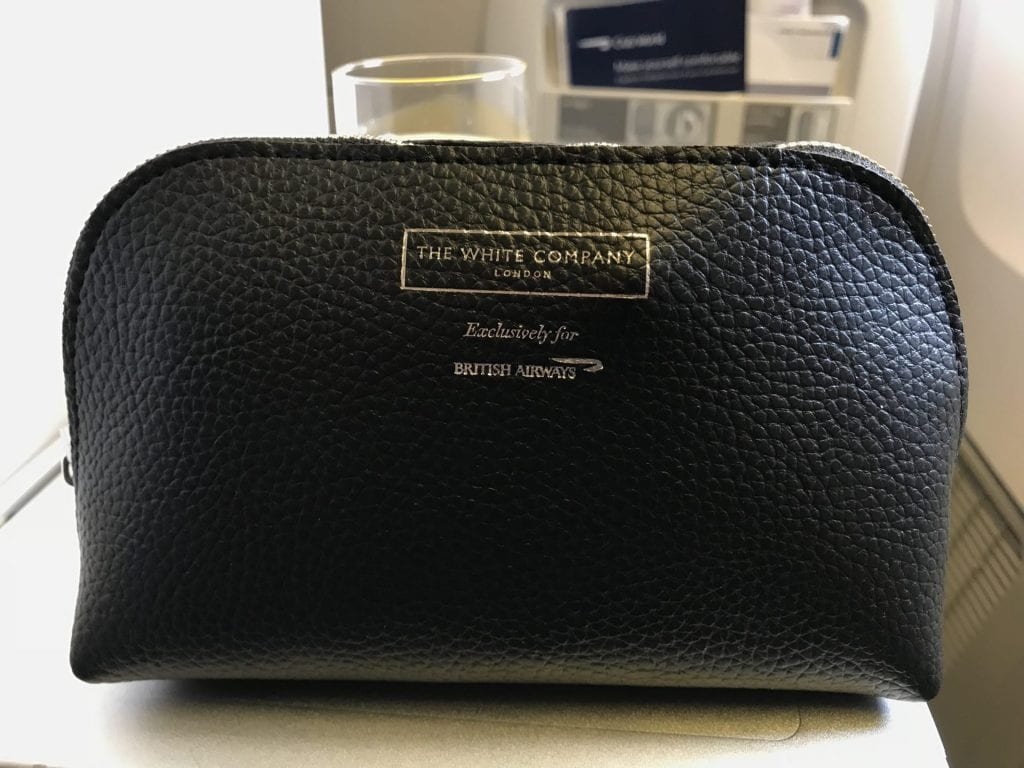 British Airways Business Class B777 Amenity Kit
