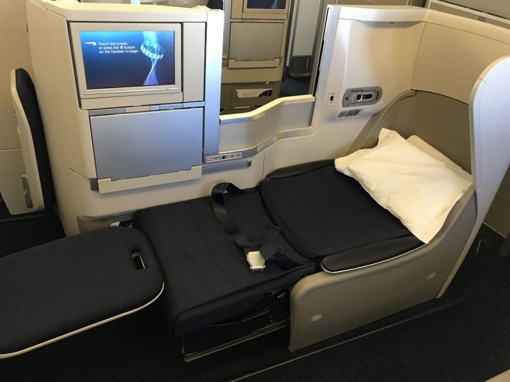 British Airways Business Class B777 Bett