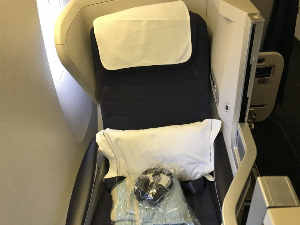 British Airways Business Class B777 Fensterplatz