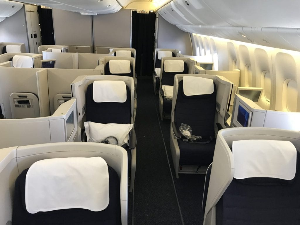 British Airways Business Class B777 Kabine 2