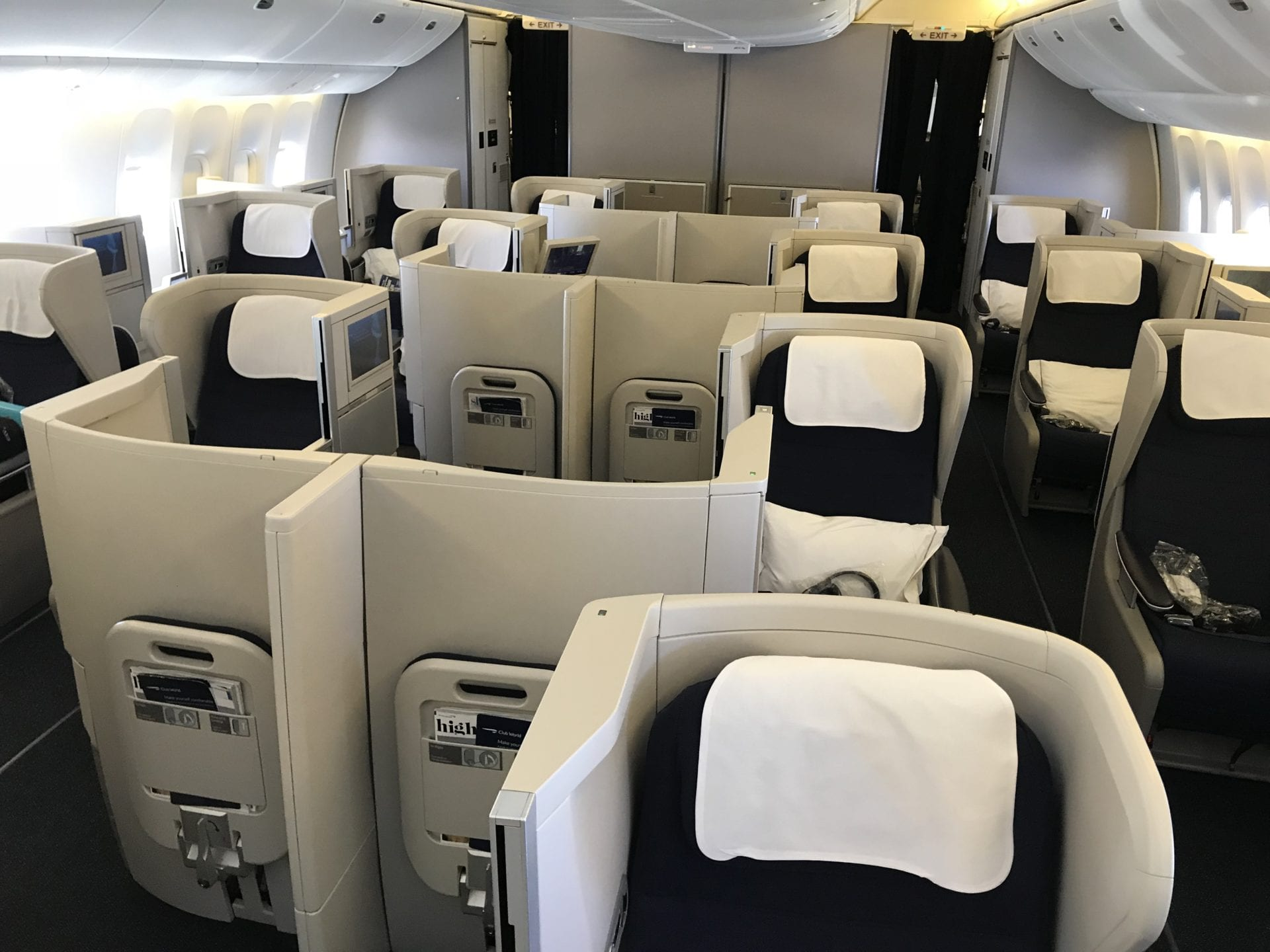 British Airways Business Class B777 Kabine