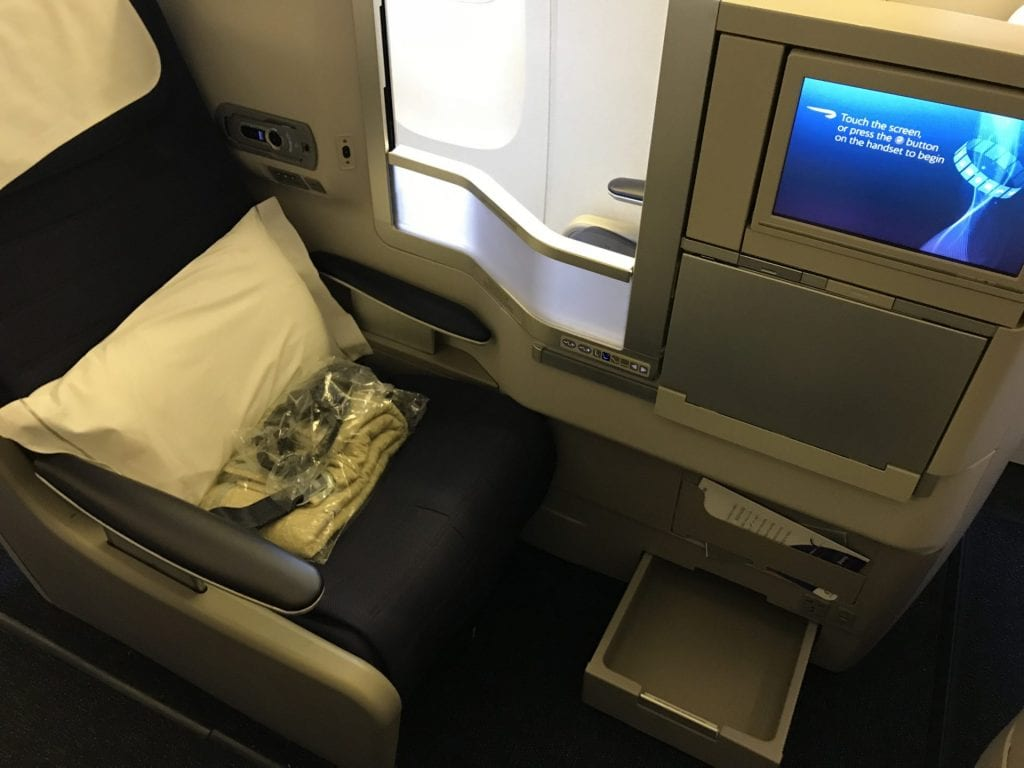 British Airways Business Class B777 Sitz