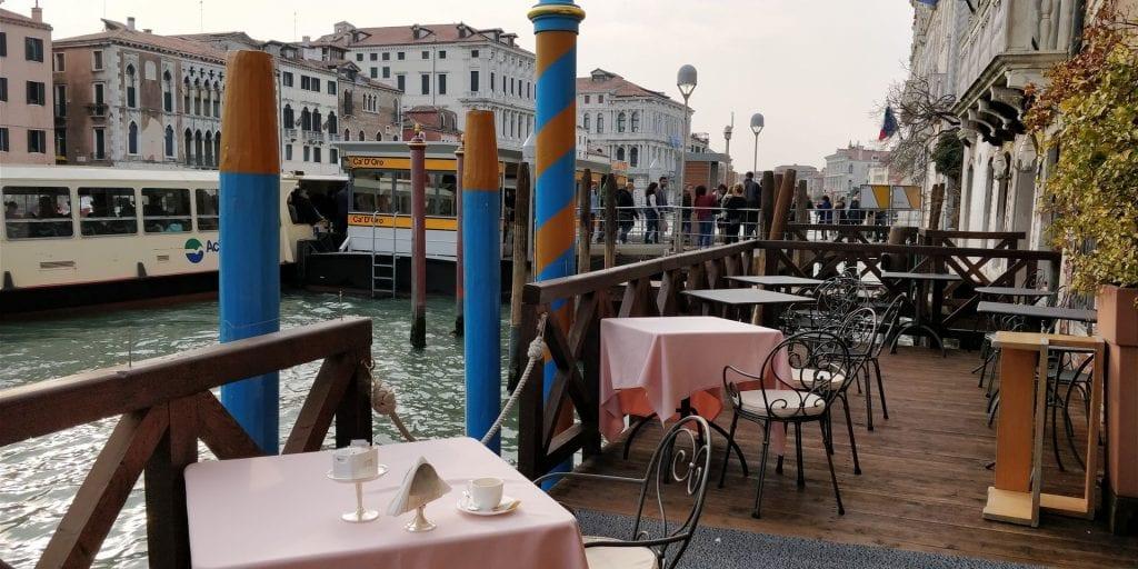 Ca Sagredo Venedig Cafe Steg