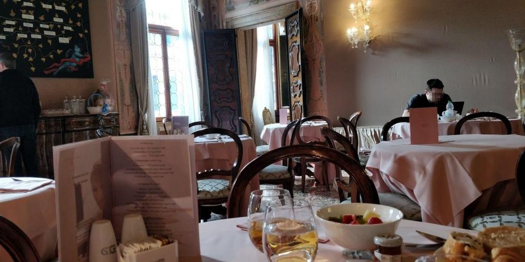 Ca Sagredo Venedig Frühstück Raum
