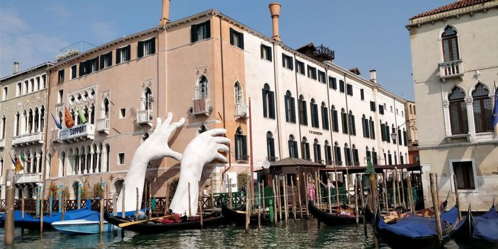 Ca Sagredo Venedig Hotel Außenansicht Kanal