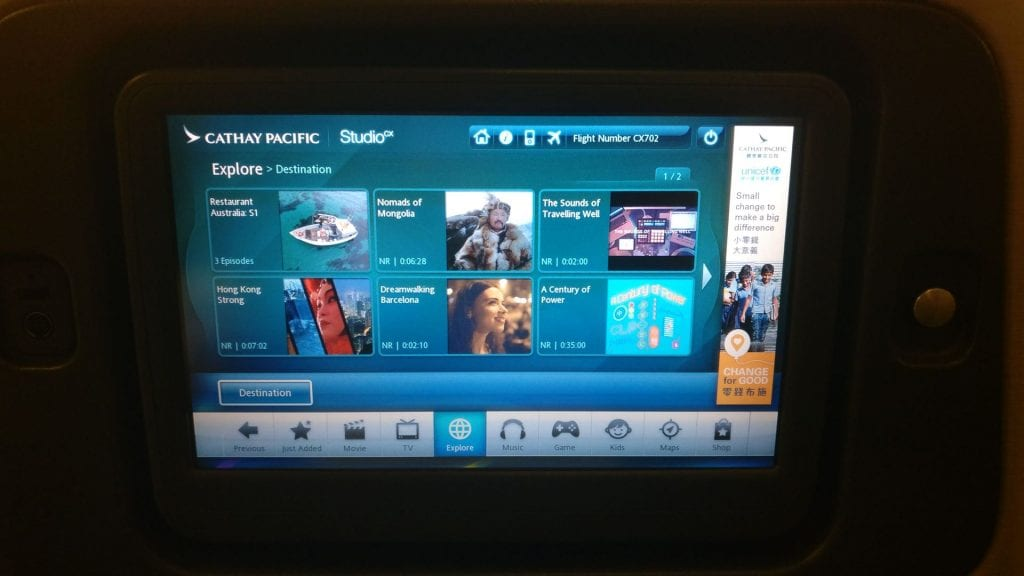 Cathay Pacific Business Class Boeing 777 300 Entertainment 4