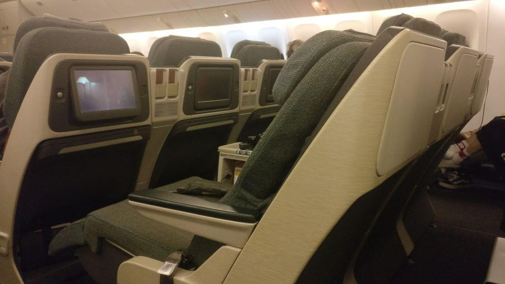 Cathay Pacific Business Class Boeing 777 300 Seat 10