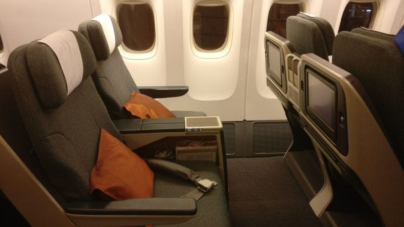 Cathay Pacific Business Class Boeing 777 300 Seat