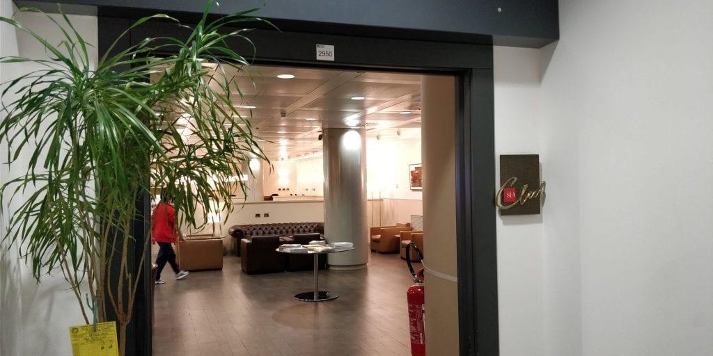 Club SEA Lounge Mailand Malpensa Sala Monteverdi Eingang