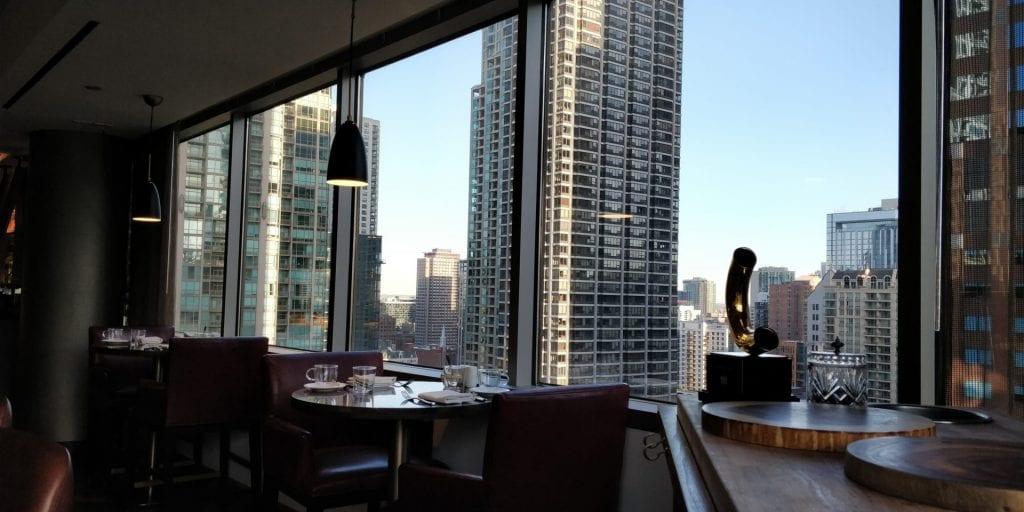 Conrad Chicago Aussicht Frühstück