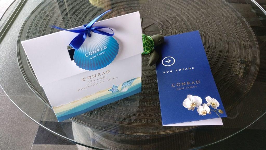 Conrad Koh Samui Parting Gift
