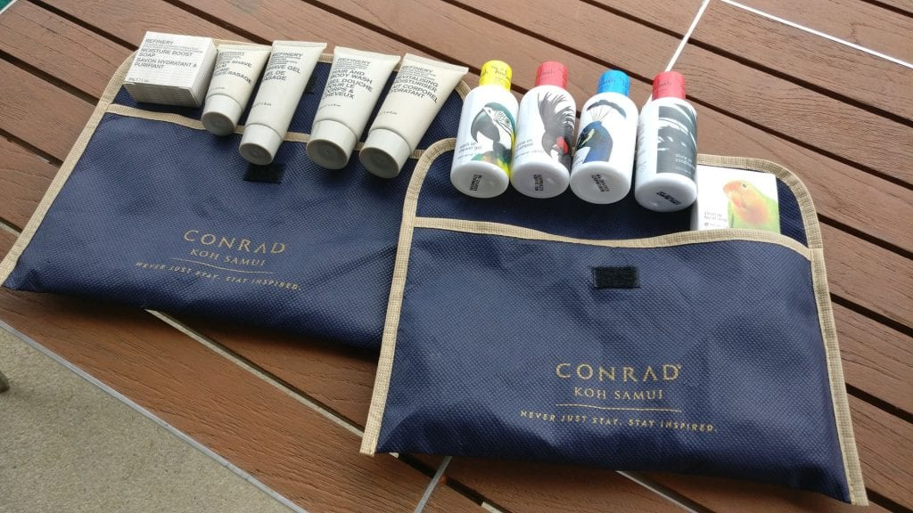 Conrad Koh Samui Toiletries