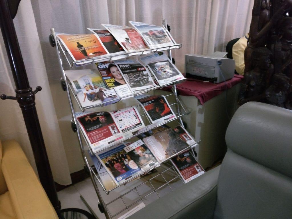 Dhow Lounge Zanzibar Magazines