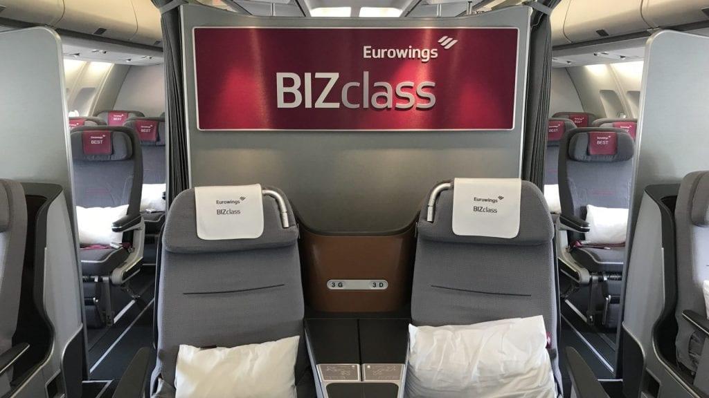 Eurowings Sitzplatzreservierung BizClass