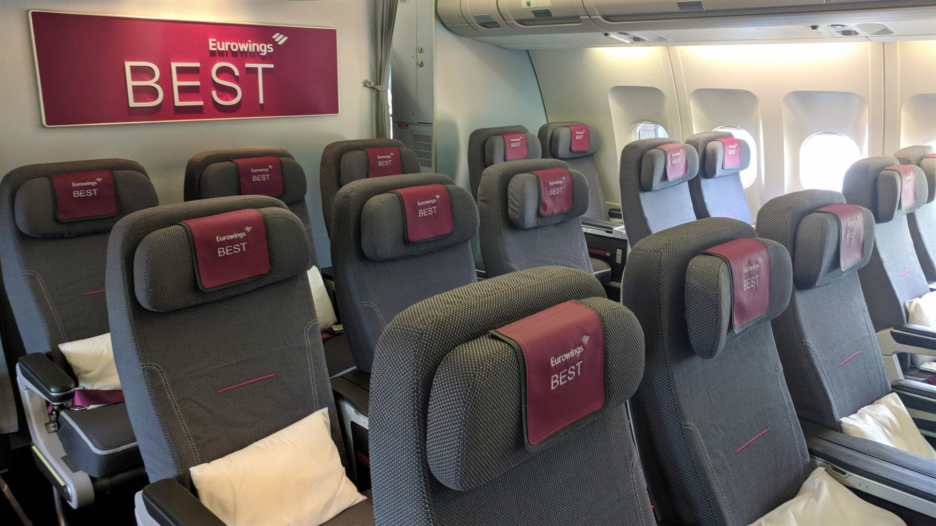 Eurowings A340 Best Kabine