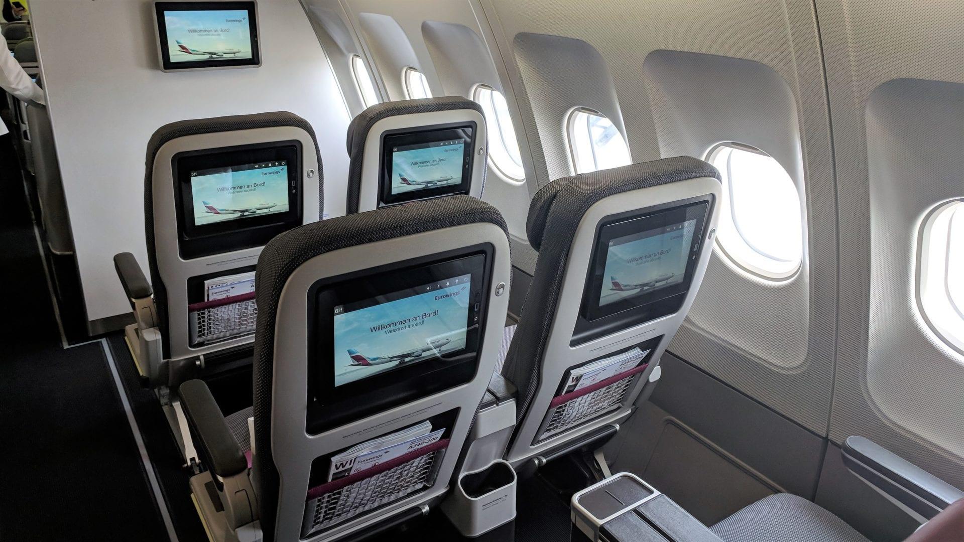 Eurowings A340 Best hinten