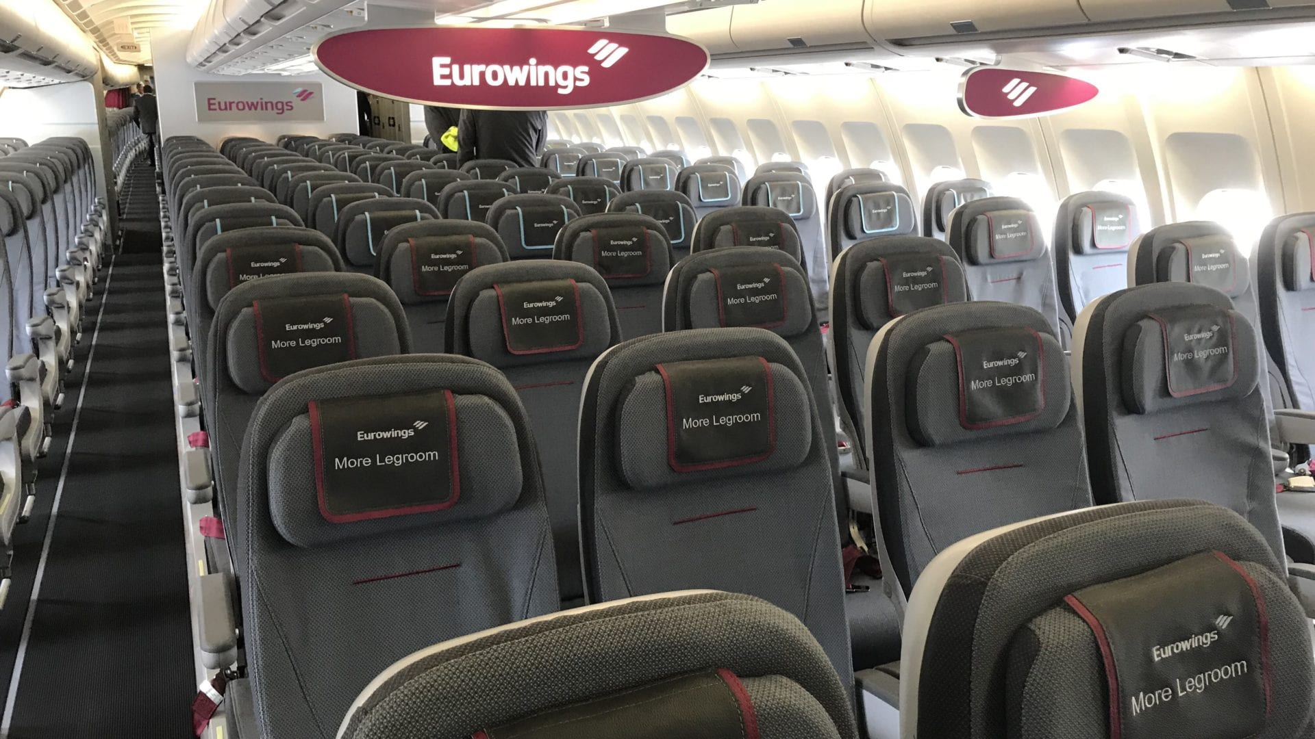 Eurowings A340 Economy Cabin