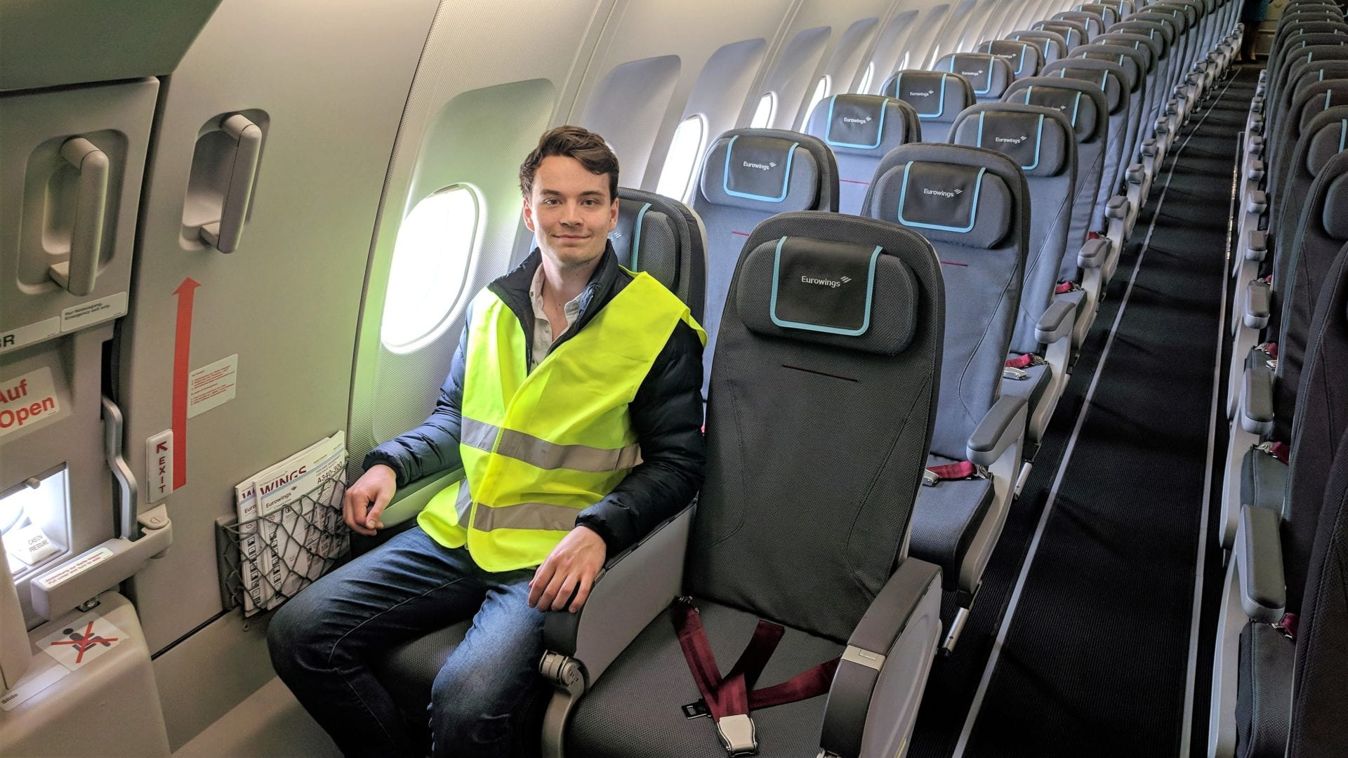 Eurowings A340 Exit Row Sitztest Jan