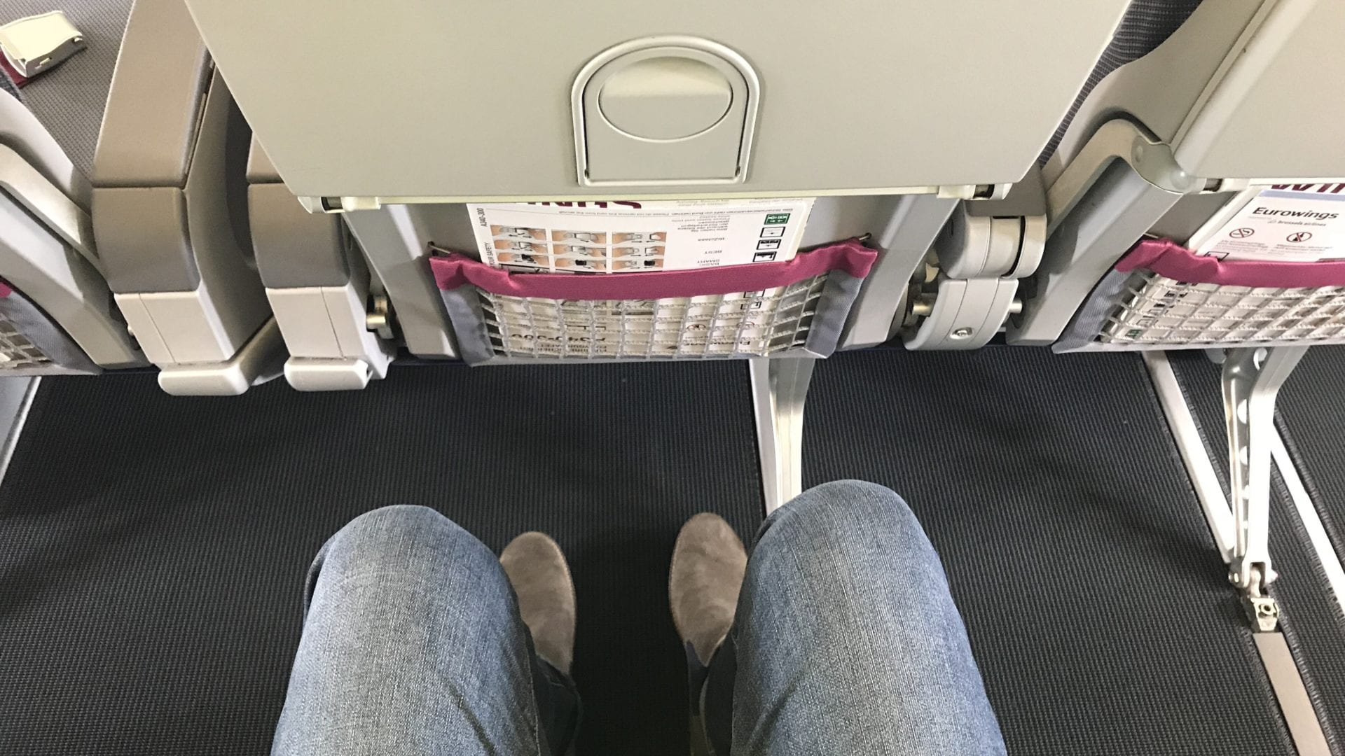 Eurowings A340 More Legroom Sitzabstand