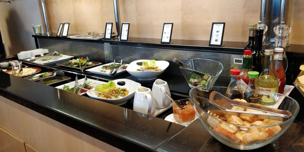 Hilton Milan Executive Lounge Buffet Abends